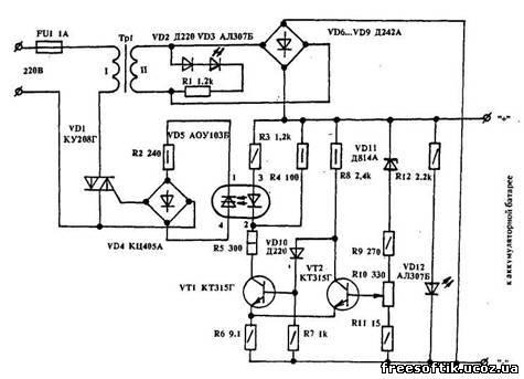 Предлагаю несложное автоматическое зарядное устройство для...