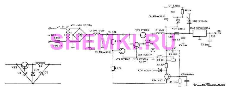 Как видно из схемы, представленной на рис.1... Импульсный стабилизатор поддерживает входное напряжение в...